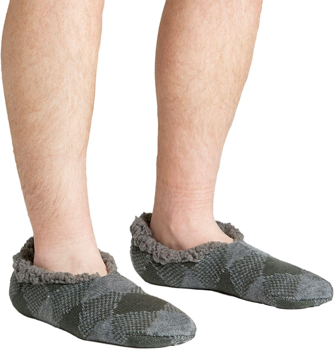 Field & Stream Men's Cozy Cabin Buff Check Slipper Socks