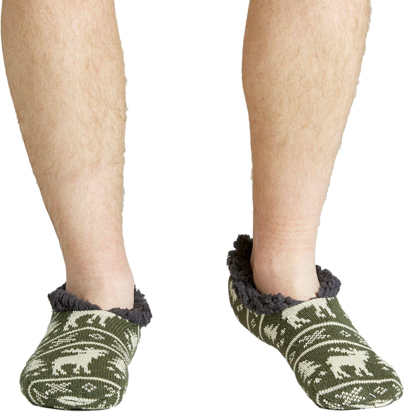 Field & Stream Men's Cozy Cabin Moose Slipper Socks