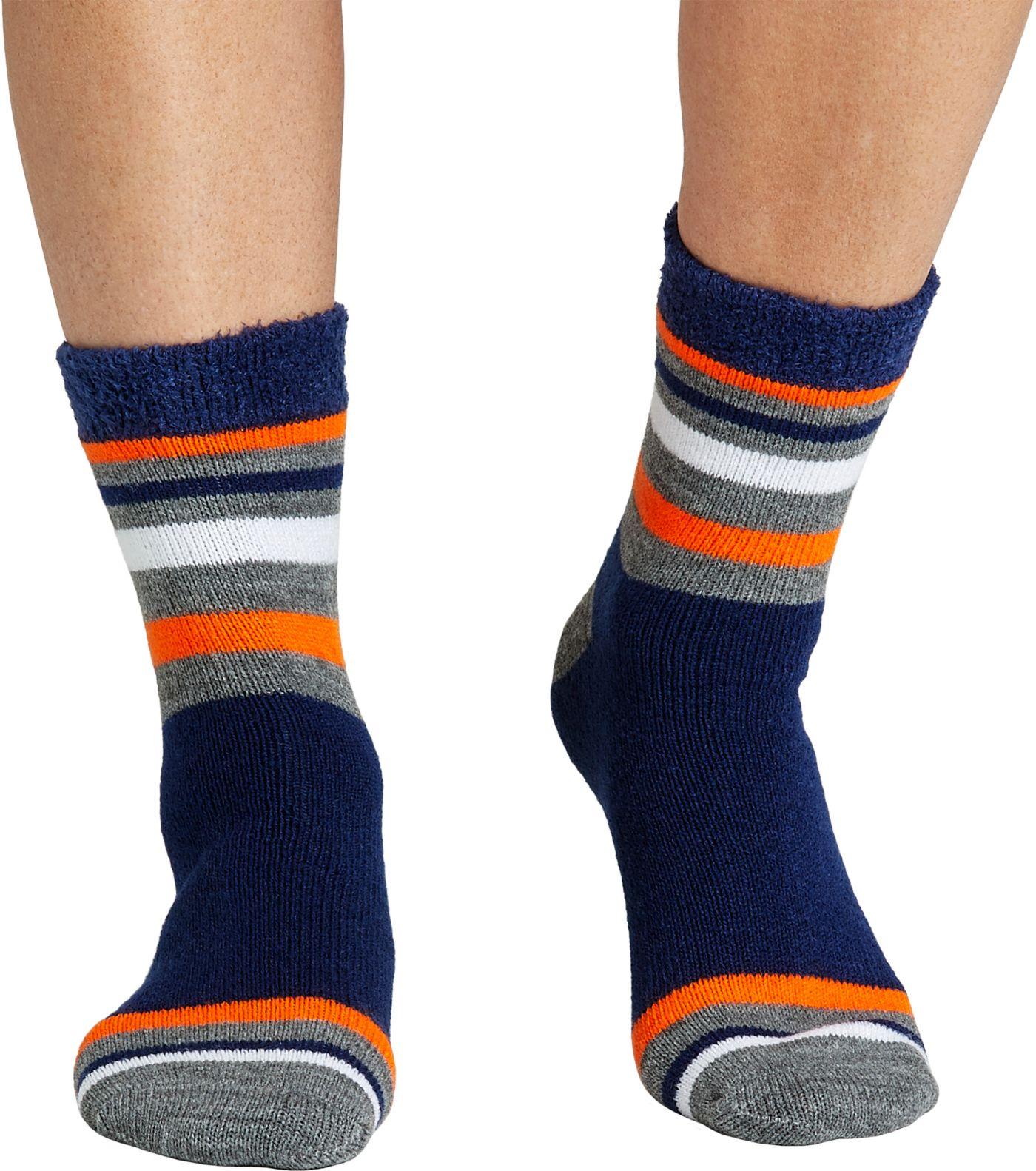 Field & Stream Team Stripe Block Cozy Cabin Crew Socks
