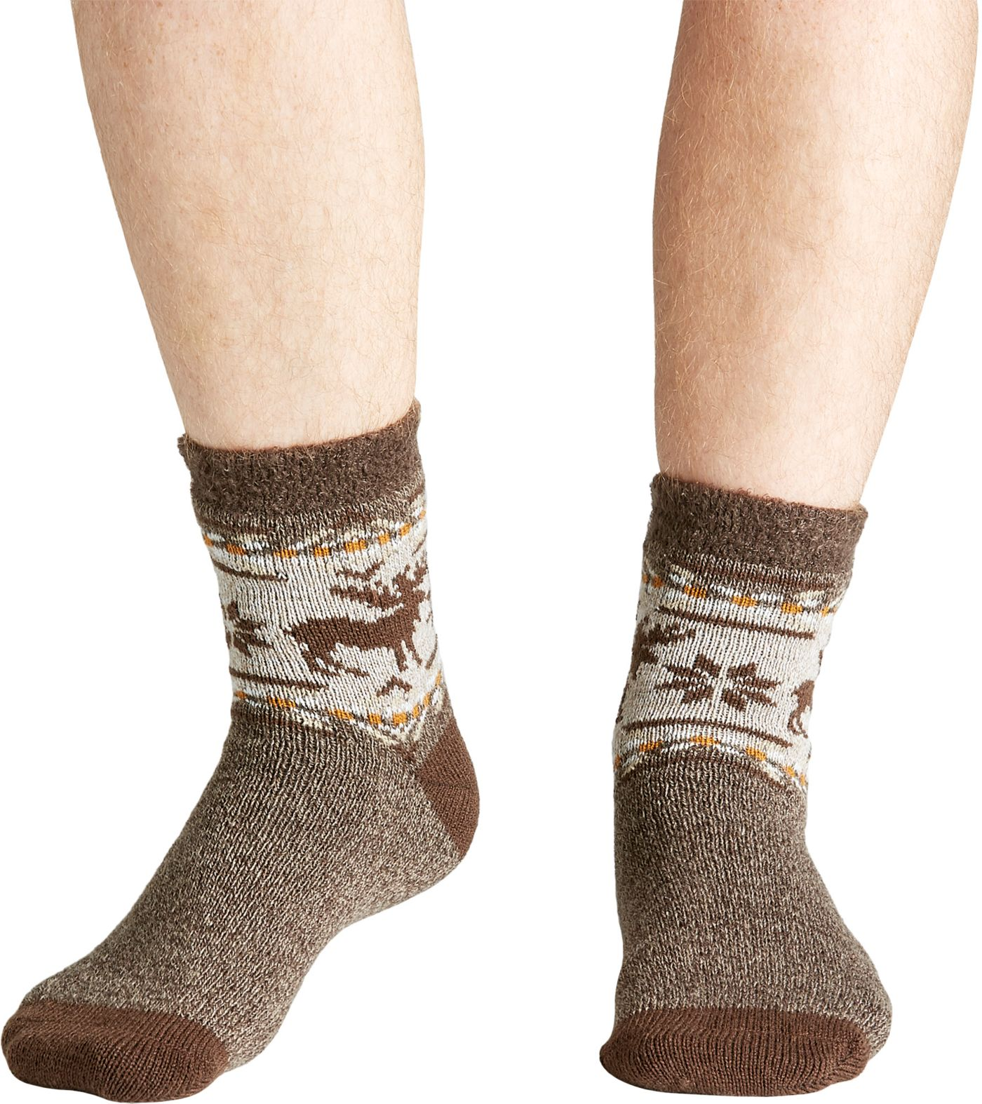 Field & Stream Men's Cozy Cabin Aztec Moose Socks