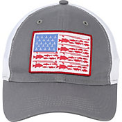 03de94a9ed394 Product Image · Field   Stream Men s Fish Icon Flag Mesh Back Hat