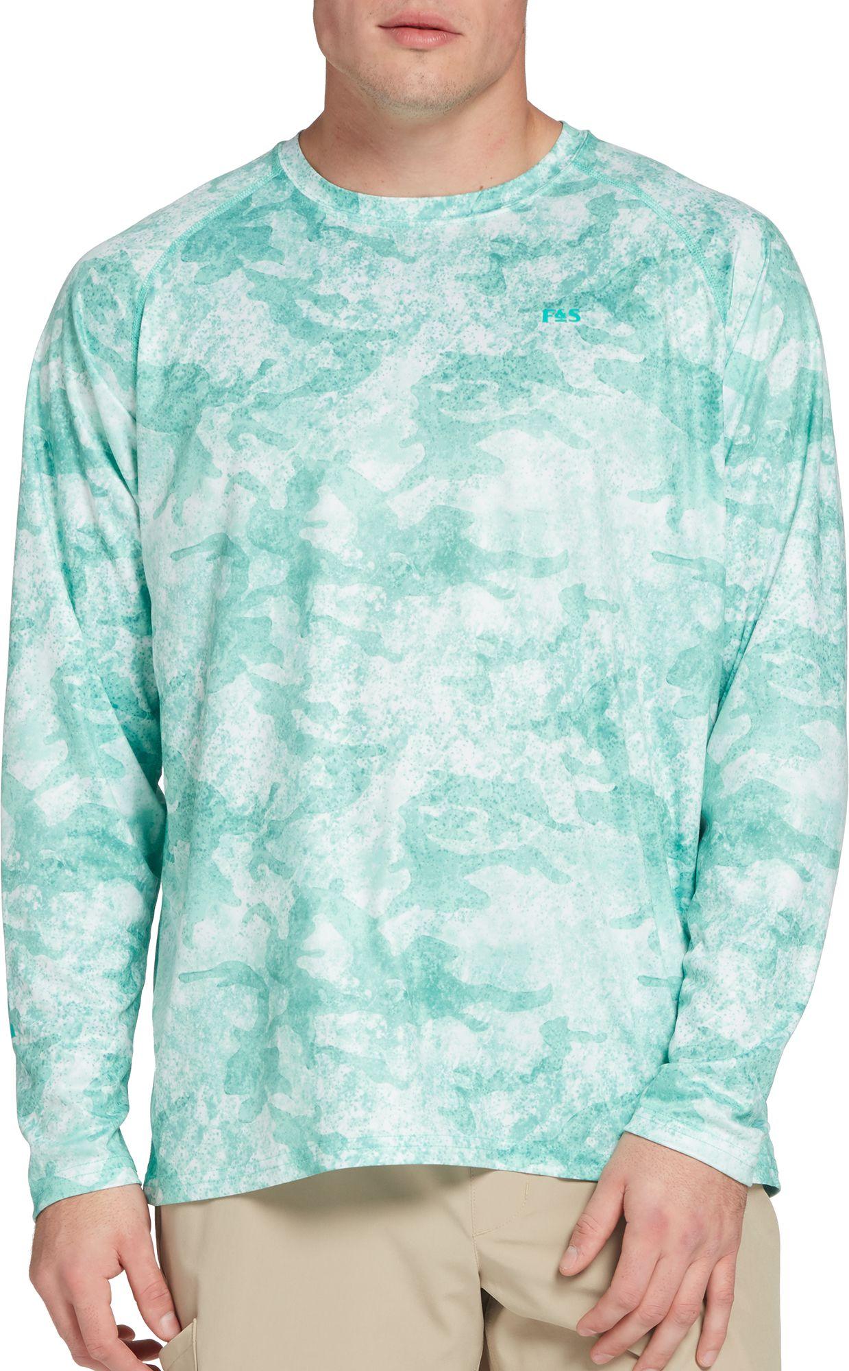 Field & Stream Men's Tech Printed Long Sleeve Shirt, Size: Small, Green