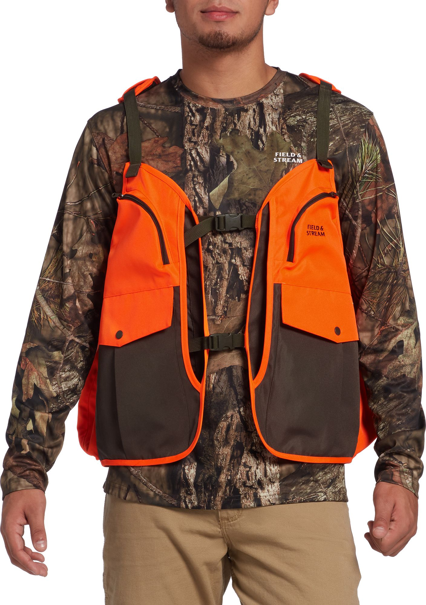 Field & Stream Men's Elevated Upland Vest, Size: Medium/Large, Blaze Orange