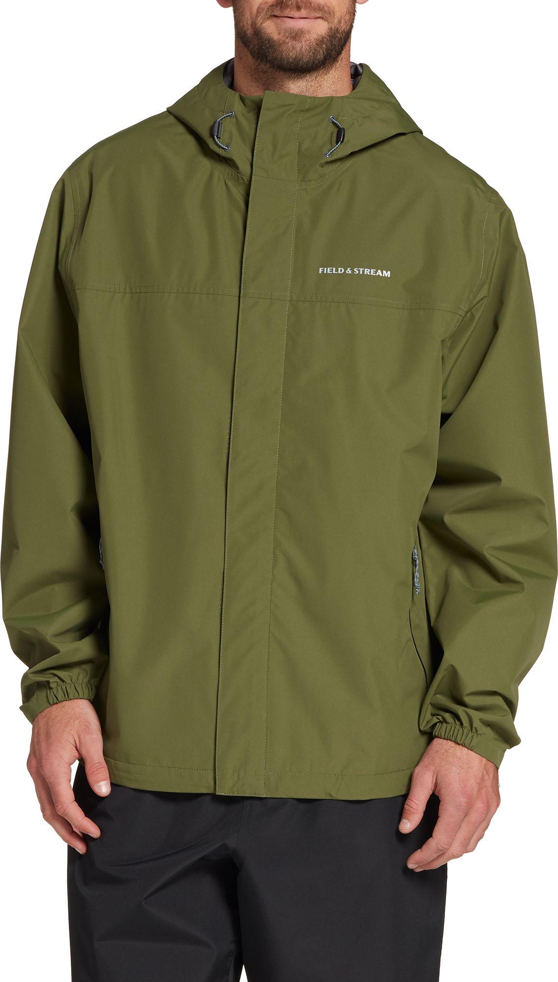 Field & Stream Men's Packable Rain Jacket, Small, Cypress Green