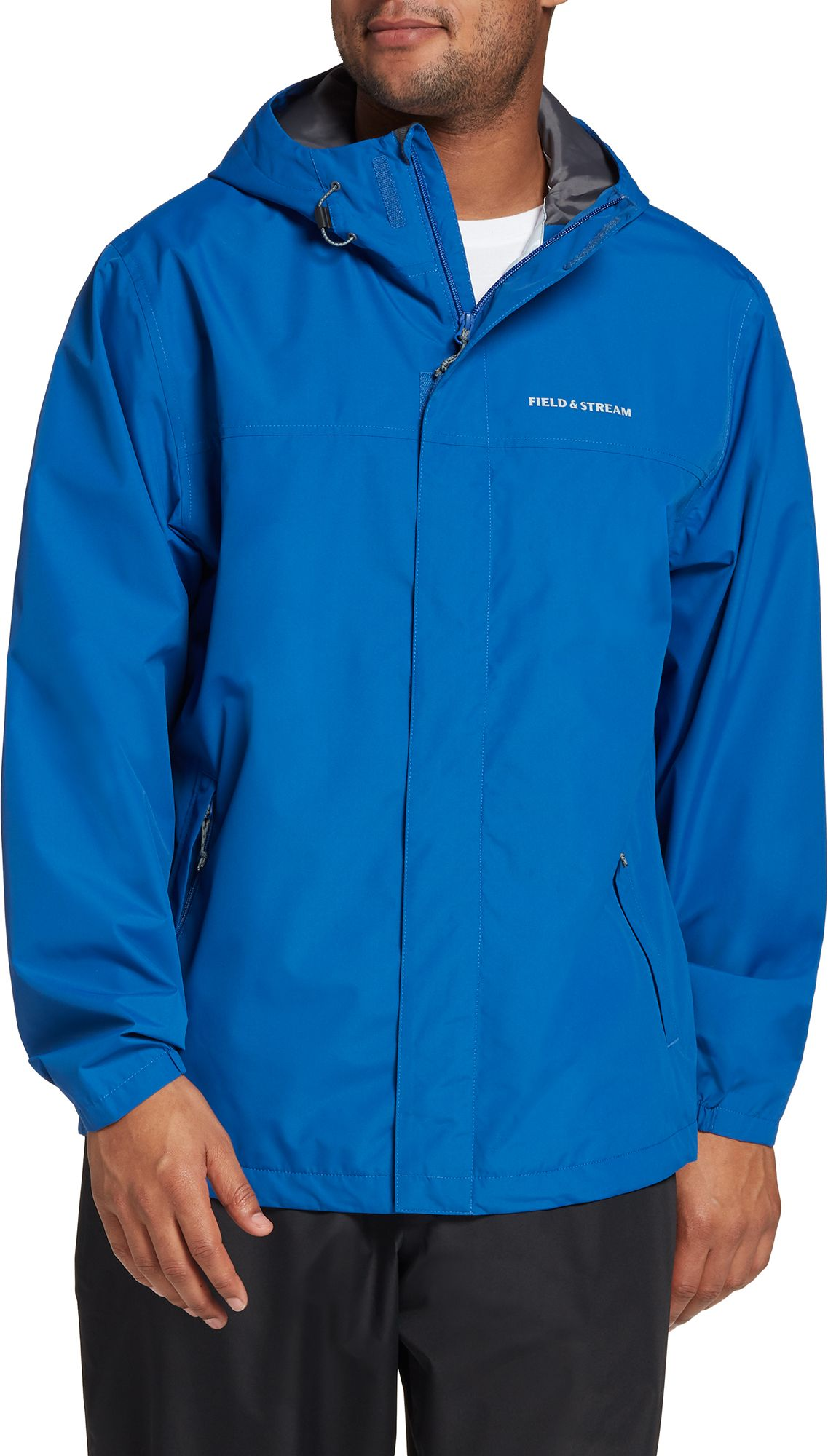 Field & Stream Men's Packable Rain Jacket, Small, Blue
