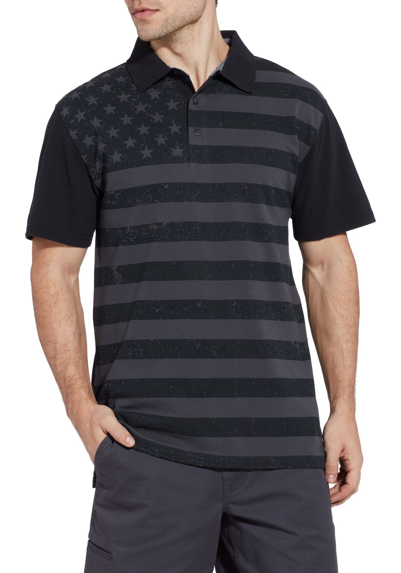 Field & Stream Men's Americana Flag Polo Shirt