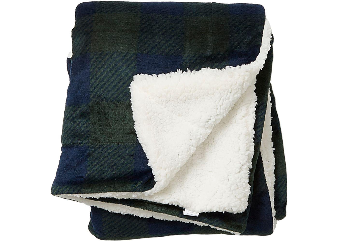 Field & Stream Cozy Buffalo Sherpa Blanket