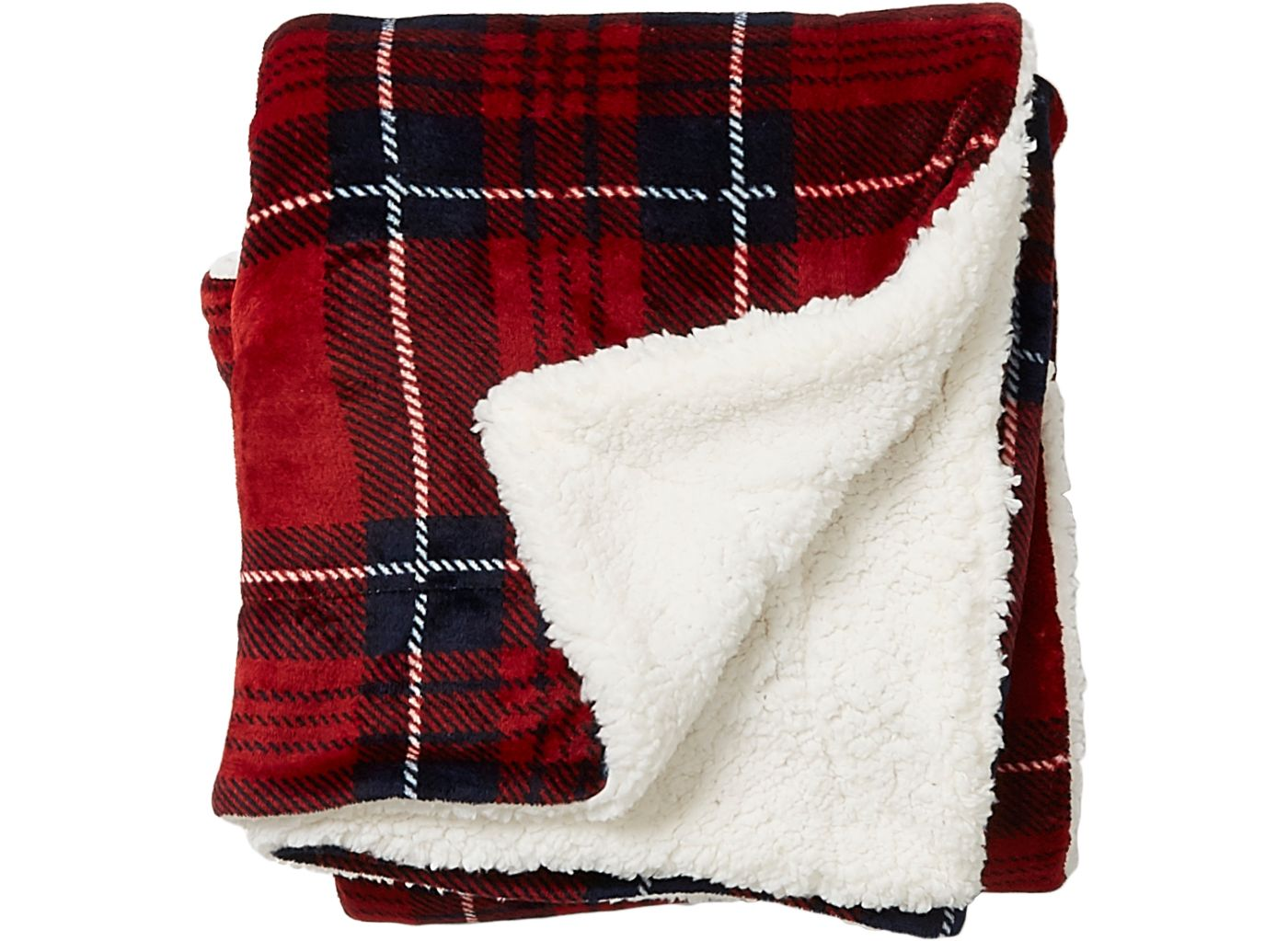 Field & Stream Cozy Plaid Sherpa Blanket
