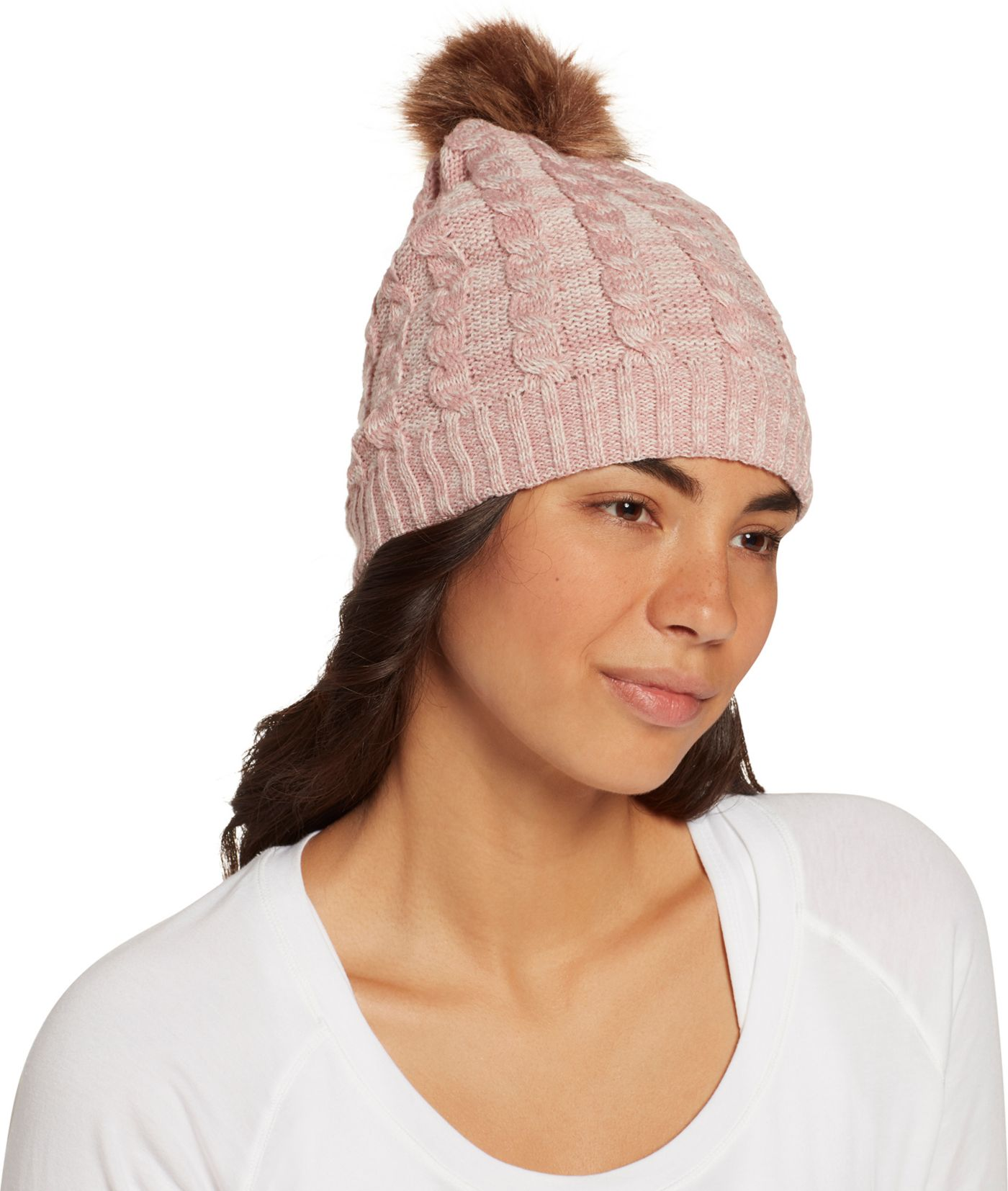 Field & Stream Women's Cabin Cable Fur Beanie
