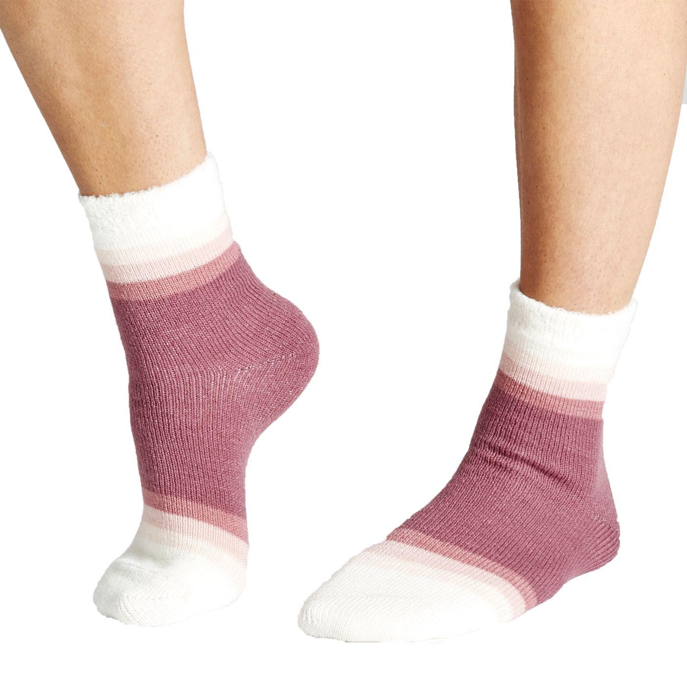 Field & Stream Women's Block Stripe Cozy Cabin Crew Socks