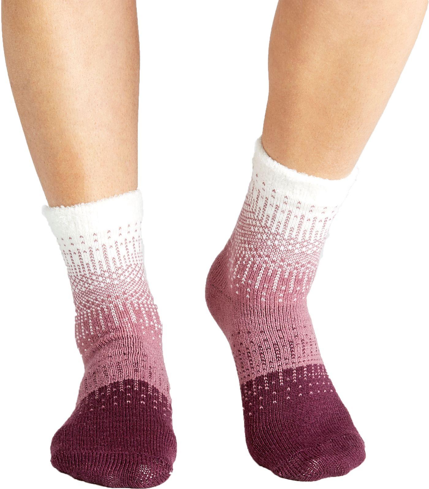 Field & Stream Women's Knit Pattern Ombre Cozy Cabin Crew Socks
