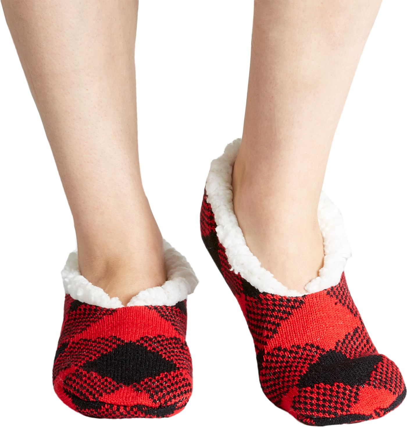 Field & Stream Women's Cozy Cabin Buff Check Slipper Socks