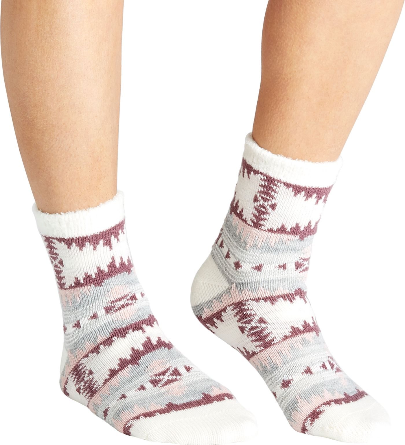 Field & Stream Women's Aztec Cozy Cabin Crew Socks