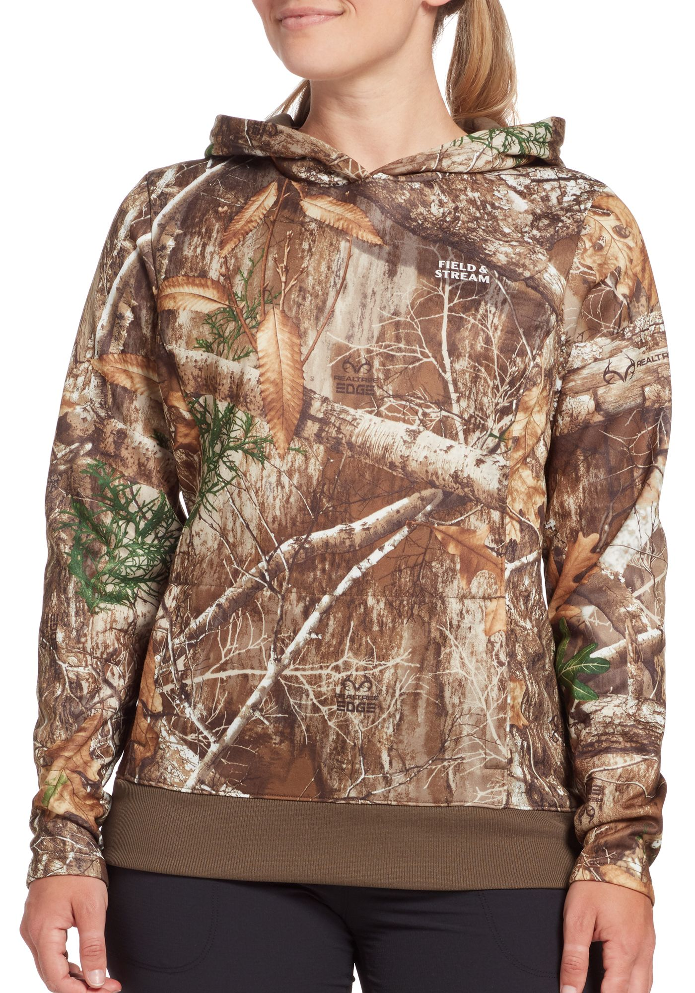 Field and Stream Women's Camo Performance Fleece Hoodie