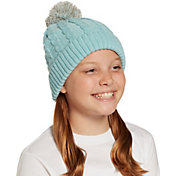 Field & Stream Girls' Cabin Cable Pom Beanie