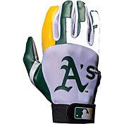 Franklin Oakland Athletics Adult Batting Gloves