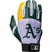Franklin Oakland Athletics Youth Batting Gloves