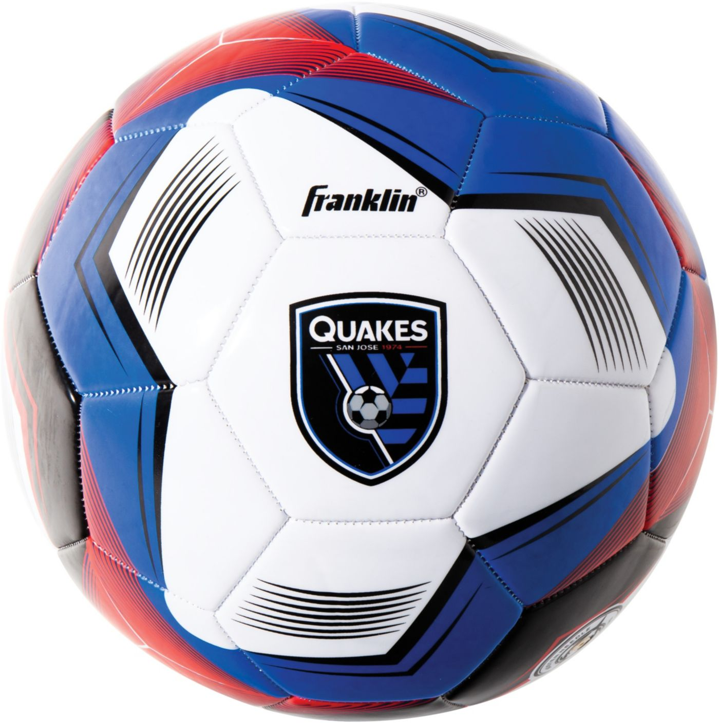 Franklin San Jose Earthquakes Size 5 Soccer Ball