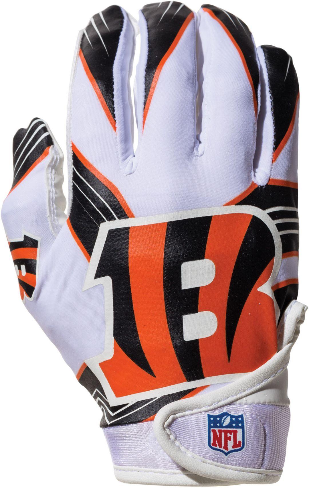 best service 7b617 aab86 Franklin Cincinnati Bengals Youth Receiver Gloves