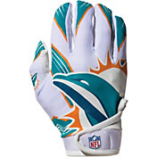 Franklin Miami Dolphins Youth Receiver Gloves