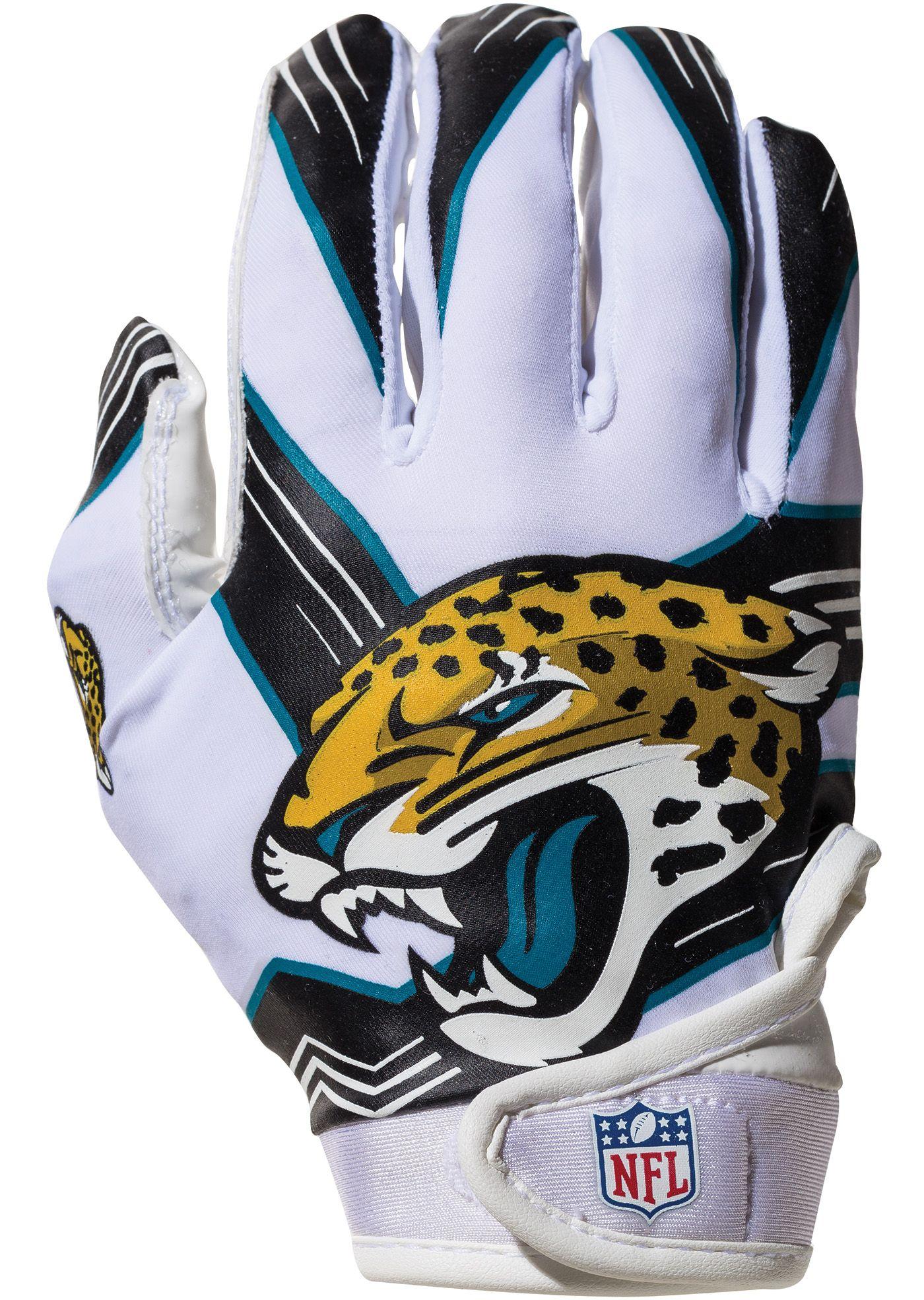 Franklin Jacksonville Jaguars Youth Receiver Gloves