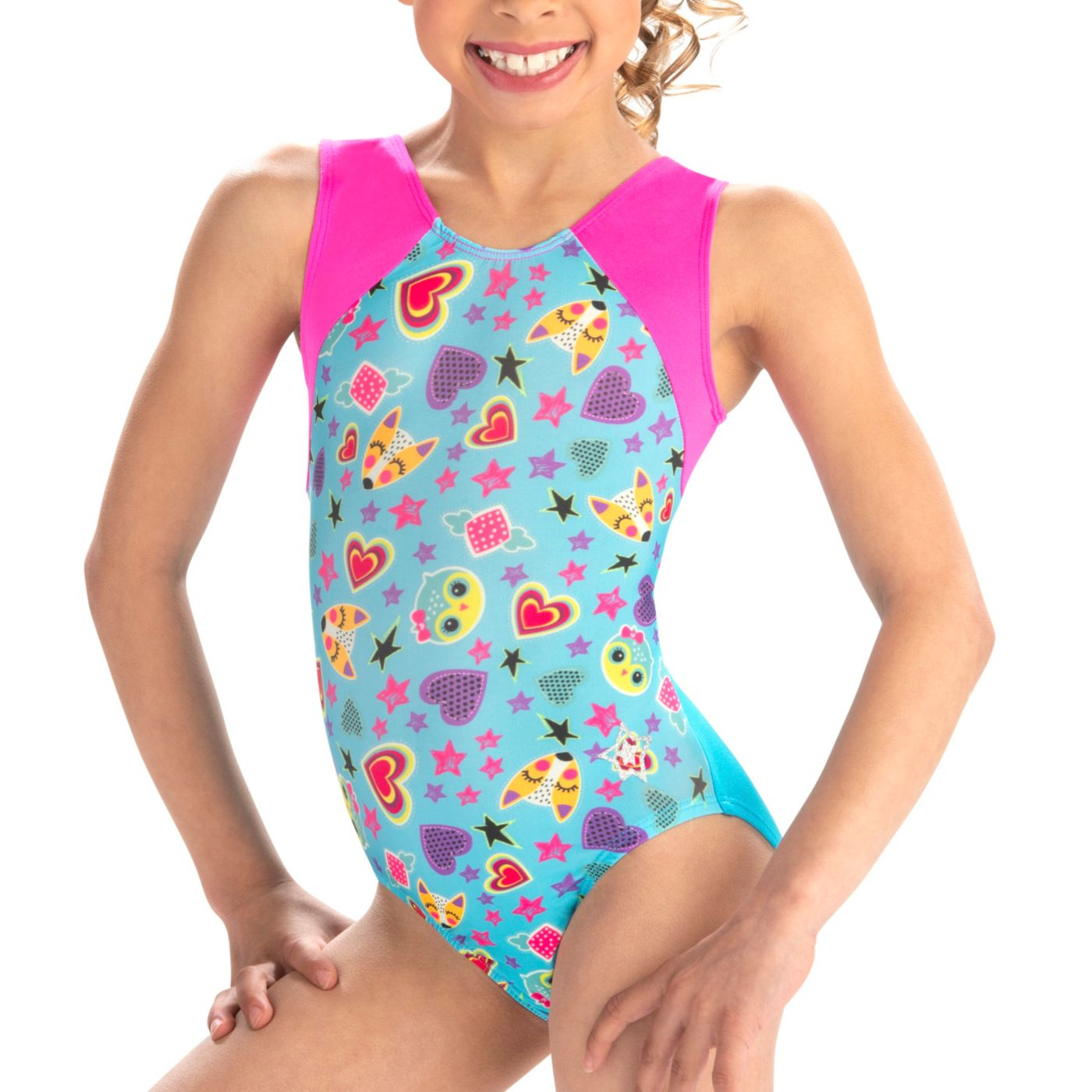 GK Elite Women's Foxy Fun Gymnastics Leotard