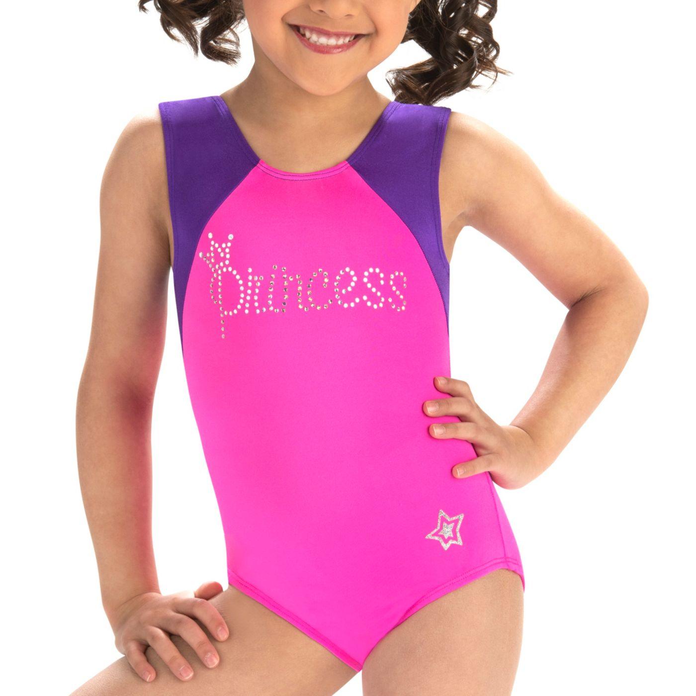 GK Elite Youth Sparkling Princess Gymnastics Leotard