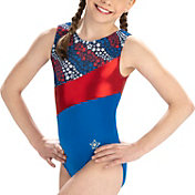 GK Elite Youth Falling Stars Gymnastics Leotard