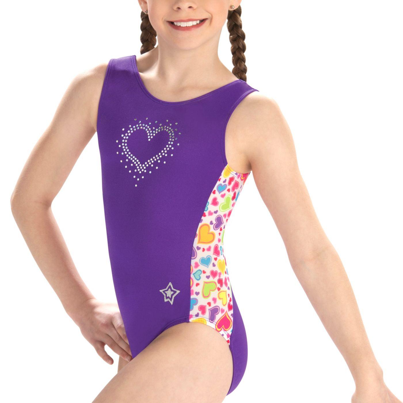 GK Elite Youth Sweet Heart Gymnastics Leotard