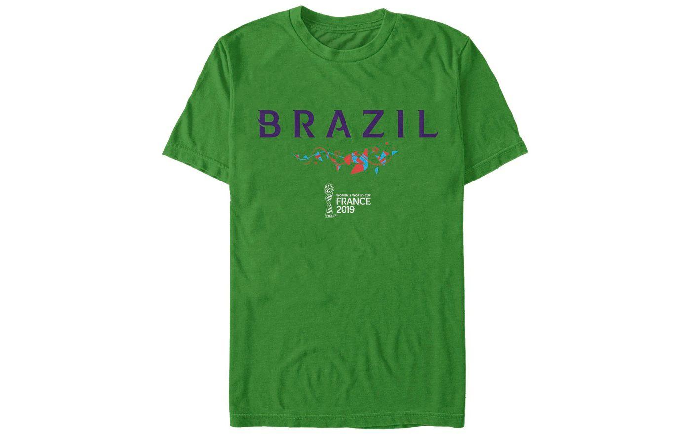 Fifth Sun Men's 2019 Women's FIFA World Cup Brazil Graphic Green T-Shirt
