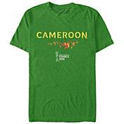 Fifth Sun Men's 2019 Women's FIFA World Cup Cameroon Graphic Green T-Shirt