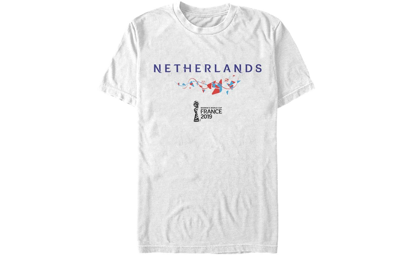 Fifth Sun Men's 2019 Women's FIFA World Cup Netherlands Graphic White T-Shirt