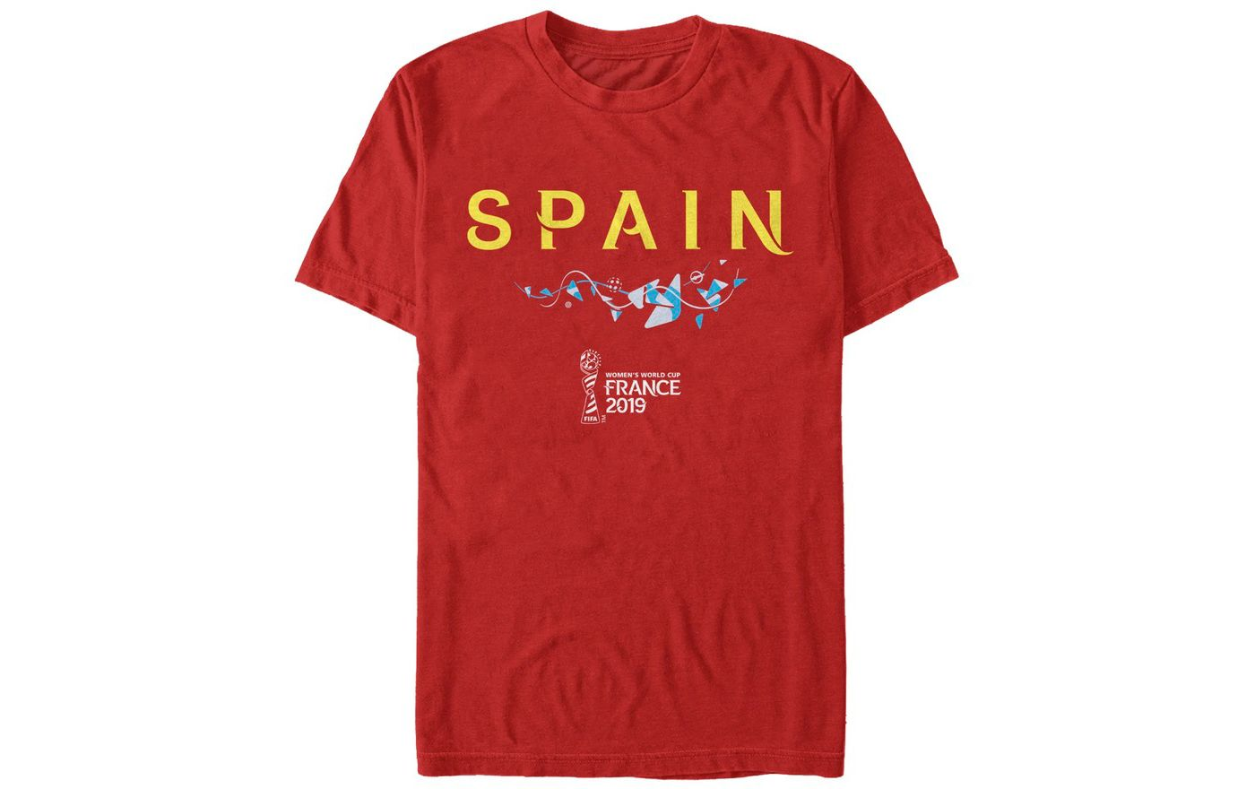 Fifth Sun Men's 2019 Women's FIFA World Cup Spain Graphic Red T-Shirt