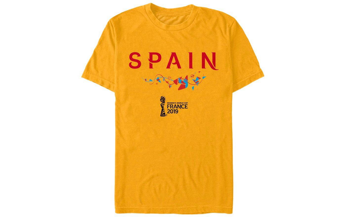 Fifth Sun Men's 2019 Women's FIFA World Cup Spain Graphic Yellow T-Shirt