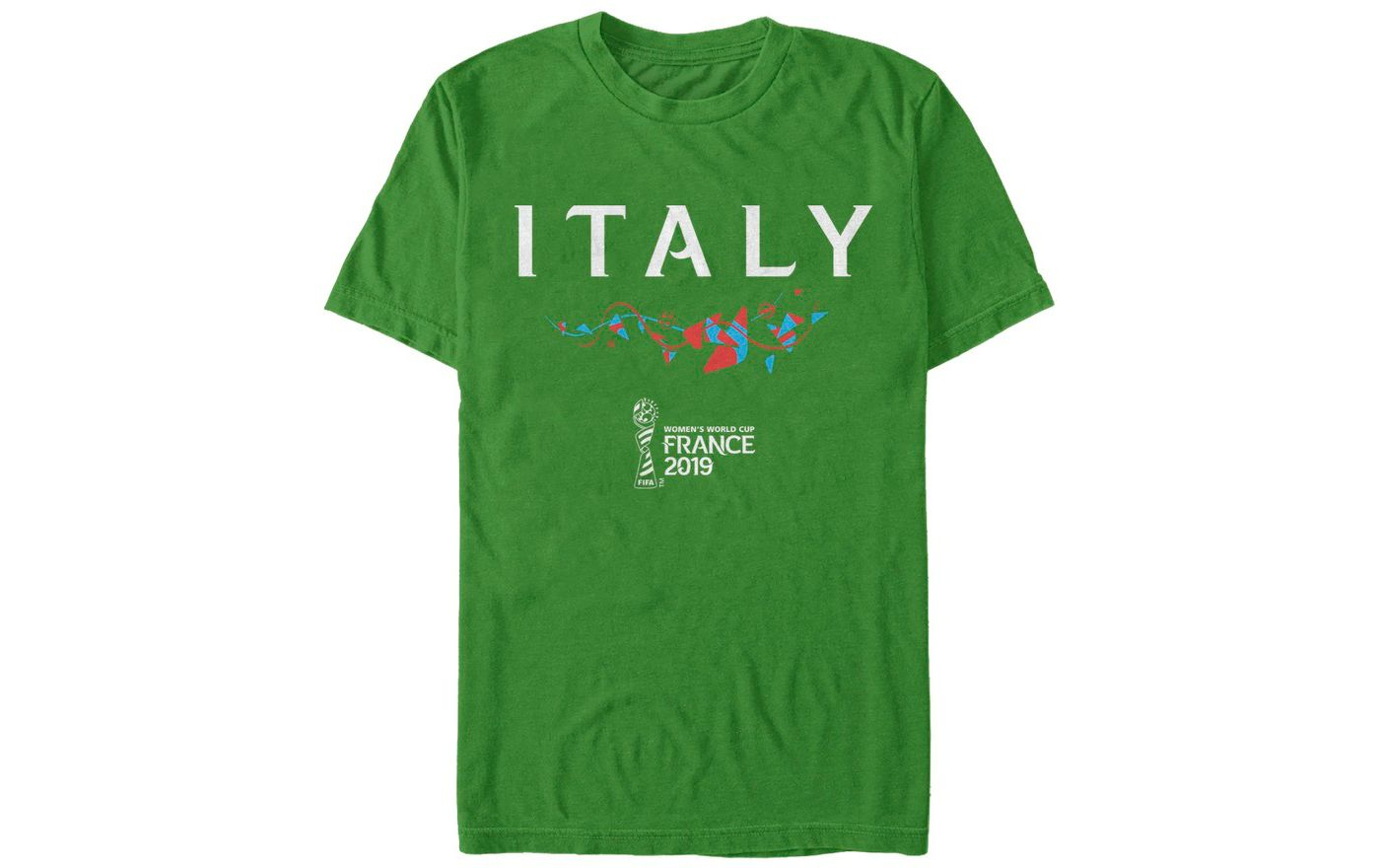 Fifth Sun Men's 2019 Women's FIFA World Cup Italy Graphic Green T-Shirt