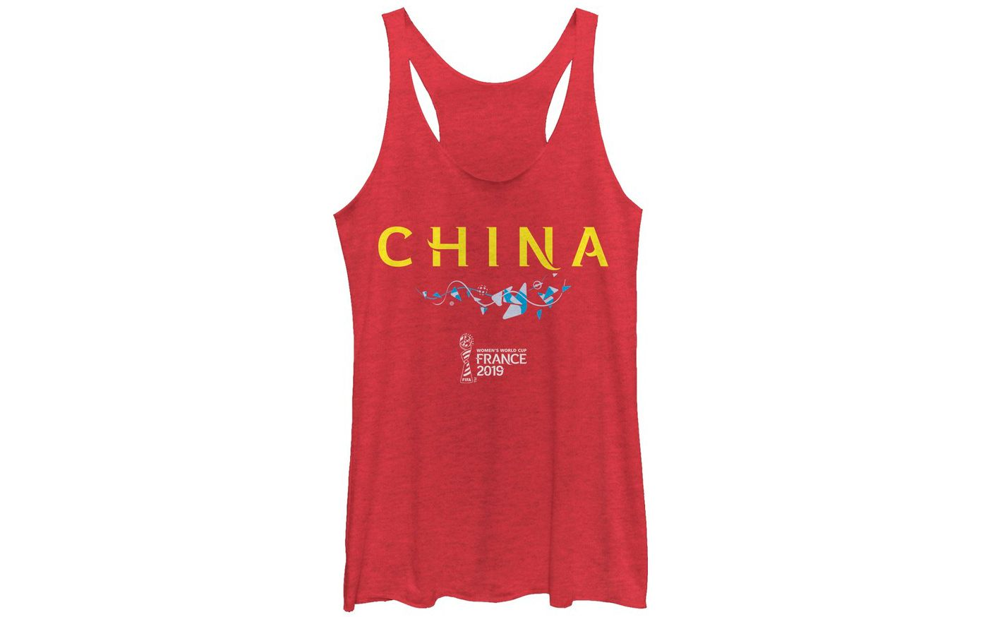 Fifth Sun Women's 2019 Women's FIFA World Cup China Graphic Red Racerback Tank Top