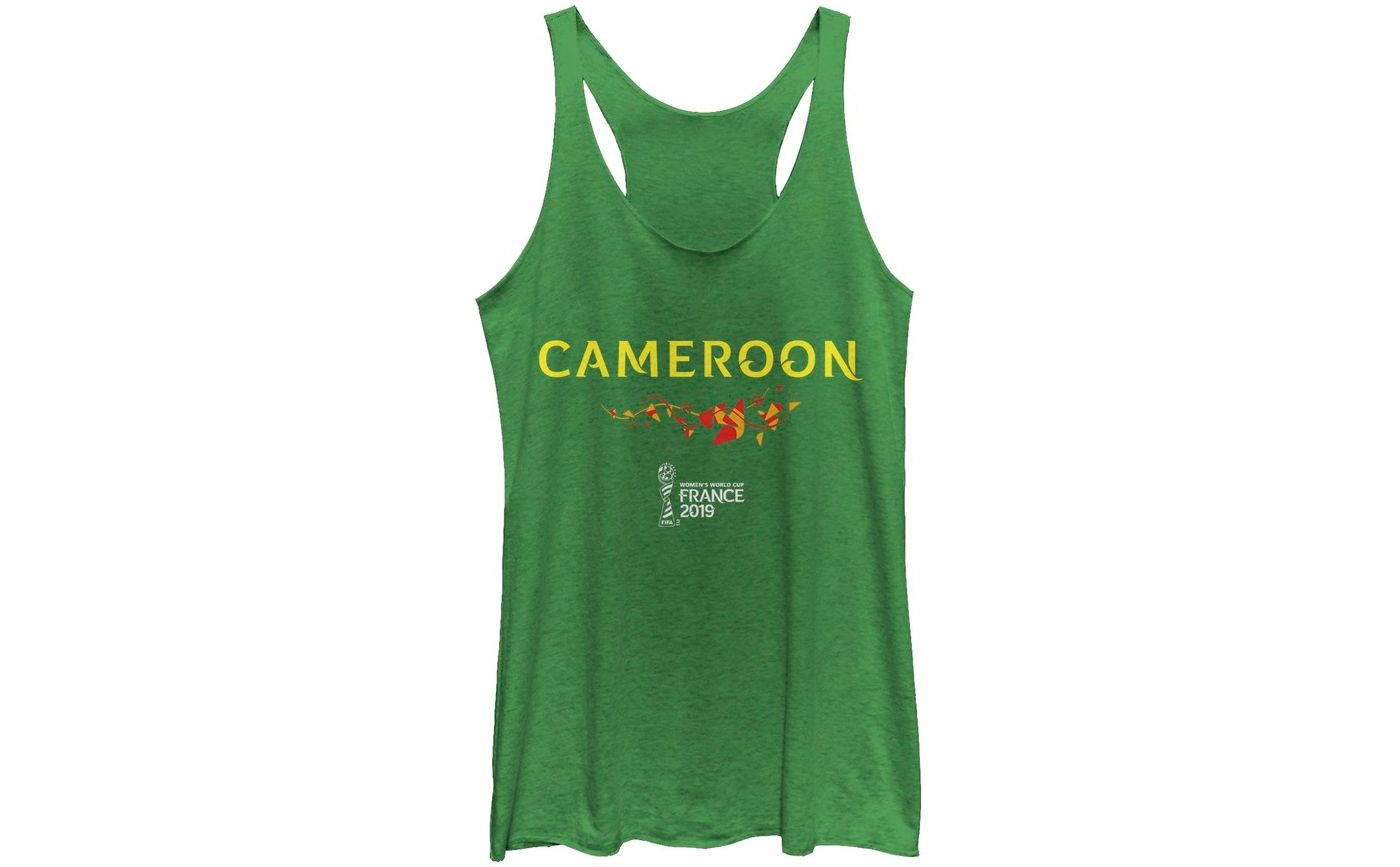 Fifth Sun Women's 2019 Women's FIFA World Cup Cameroon Graphic Green Racerback Tank Top