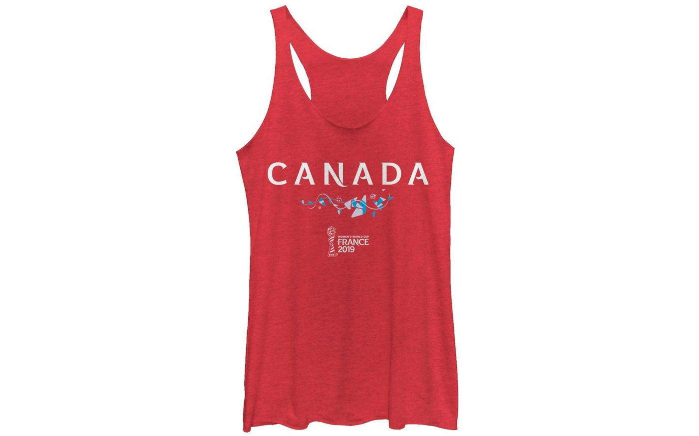 Fifth Sun Women's 2019 Women's FIFA World Cup Canada Graphic Red Racerback Tank Top
