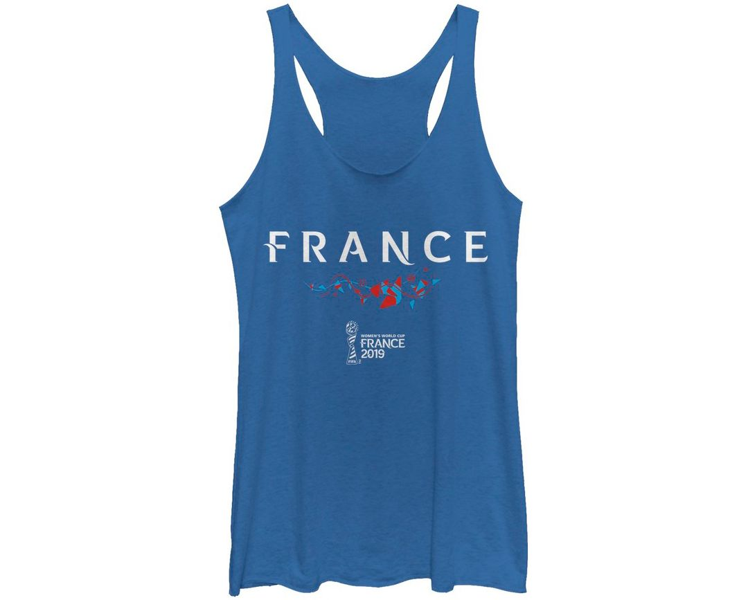 newest collection 1e1fd c885b Fifth Sun Women's 2019 Women's FIFA World Cup France Graphic Royal  Racerback Tank Top