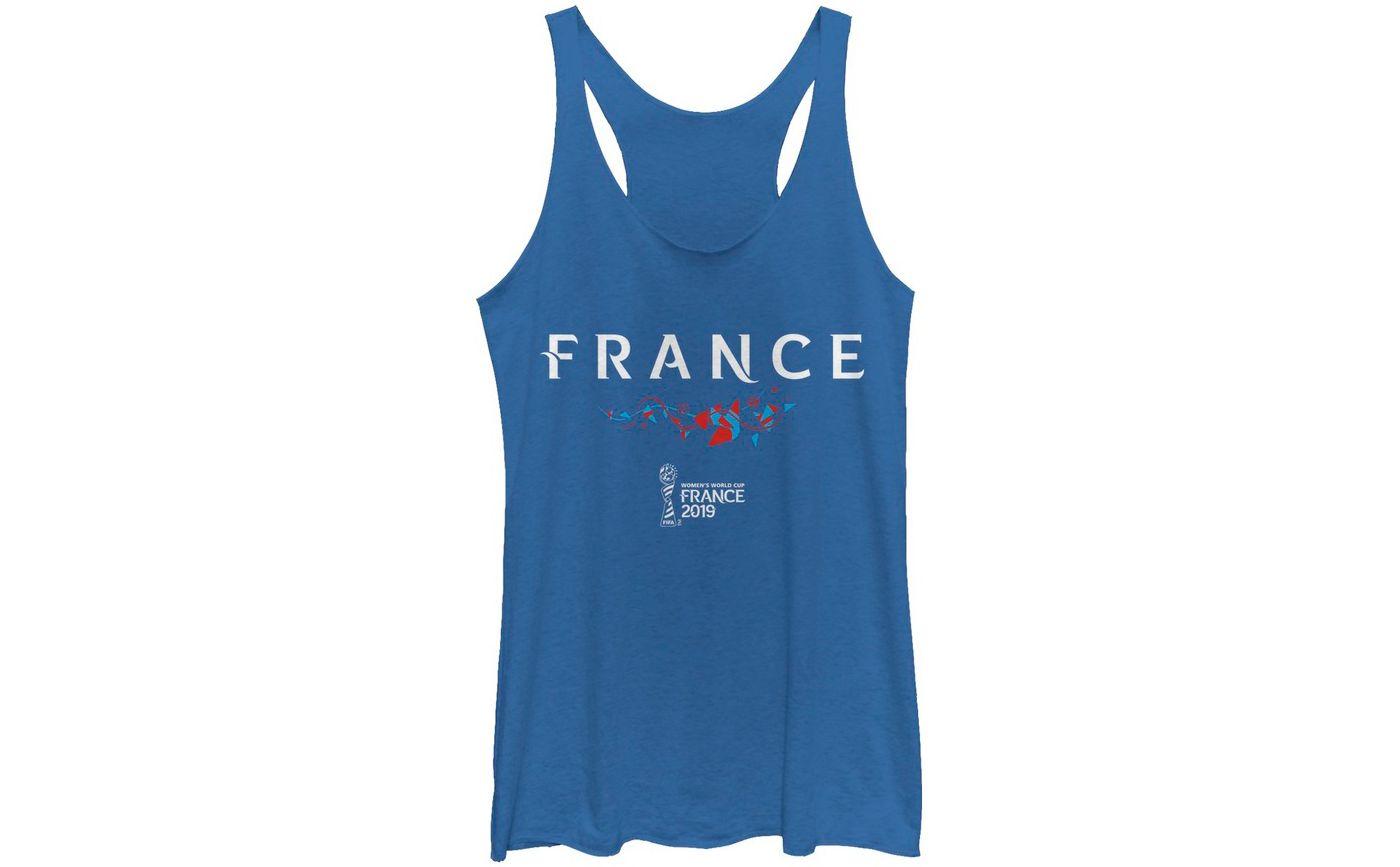 Fifth Sun Women's 2019 Women's FIFA World Cup France Graphic Royal Racerback Tank Top