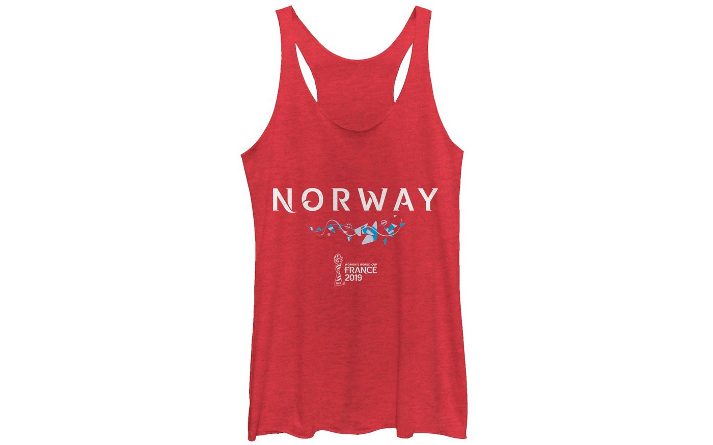 Fifth Sun Women's 2019 Women's FIFA World Cup Norway Graphic Red Racerback Tank Top