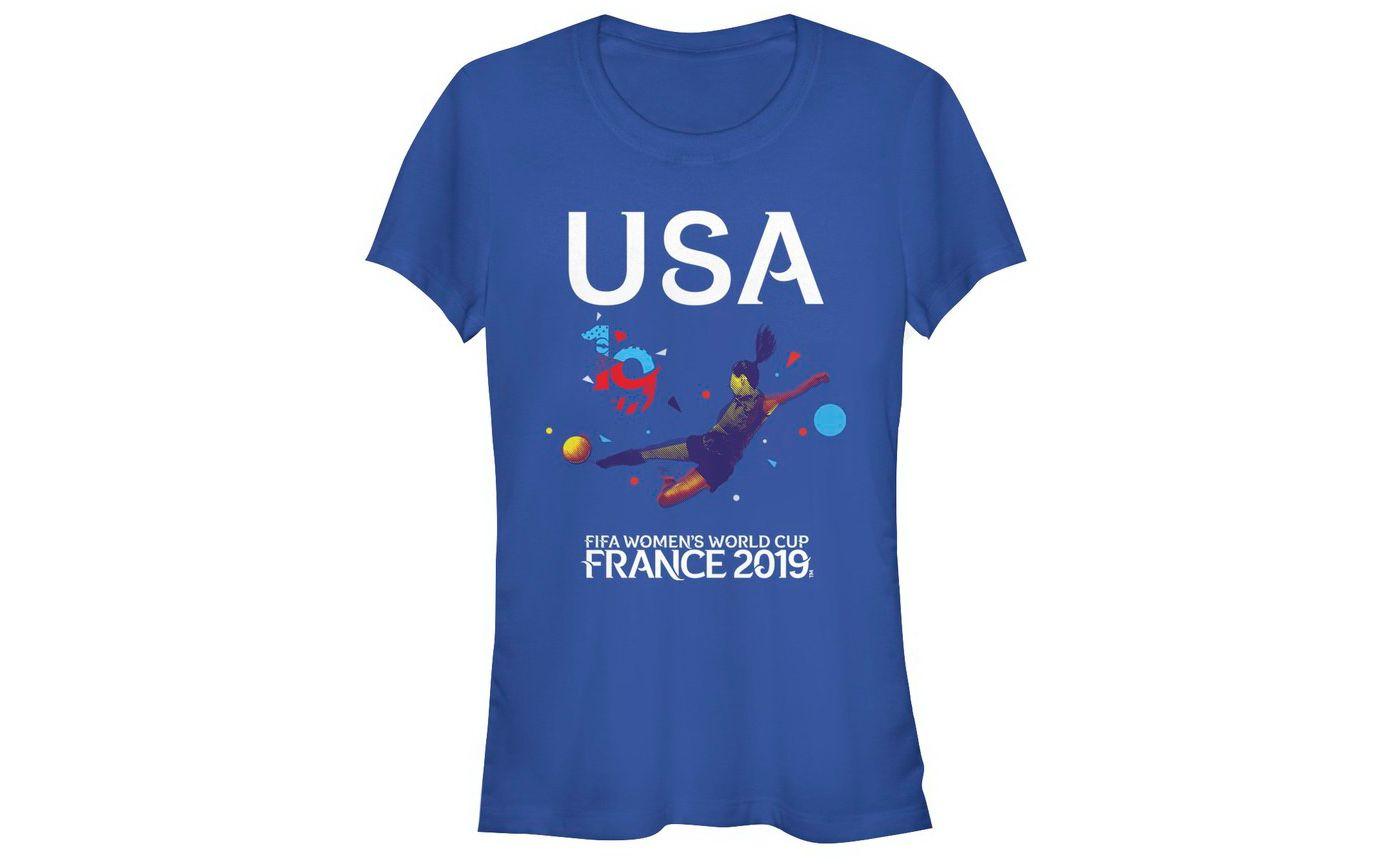 Fifth Sun Women's 2019 Women's FIFA World Cup USA Soccer Bicycle Royal T-Shirt