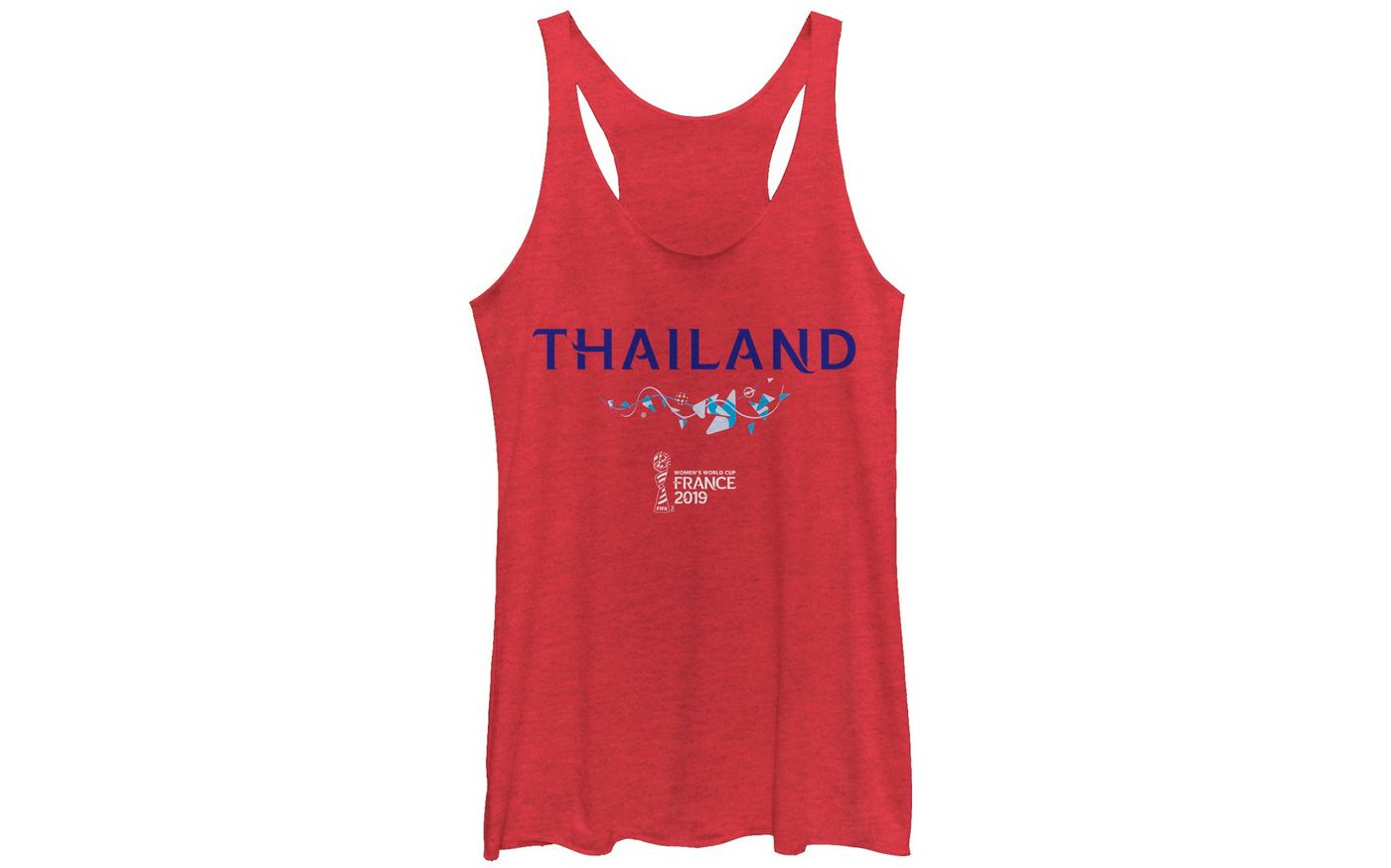 Fifth Sun Women's 2019 Women's FIFA World Cup Thailand Graphic Red Racerback Tank Top