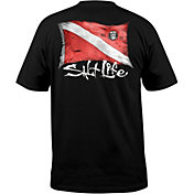 Salt Life Men's Weathered Dive Flag Pocket T-Shirt
