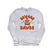 Where I'm From Men's Beware Of Dawgs Heather Grey Tri-Blend Long Sleeve Shirt
