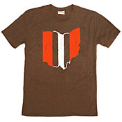 Where I'm From Men's Ohio Stripe Brown Tri-Blend T-Shirt