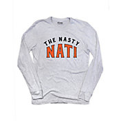 Where I'm From Men's The Nasty Nati Heather Grey Tri-Blend Long Sleeve Shirt
