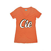 Where I'm From Women's CLE Orange Tri-Blend V-Neck T-Shirt