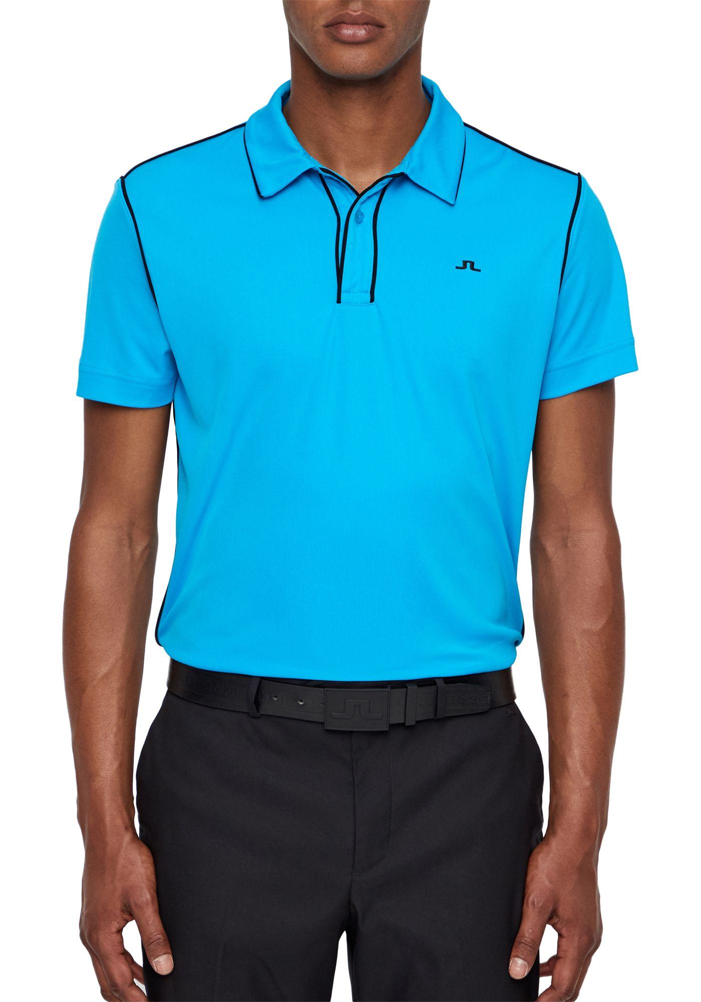J.Lindeberg Men's Tomi Lux Pique Golf Polo