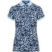 J.Lindberg Women's Tour Tech Icelayer Print-TX Short Sleeve Golf Polo
